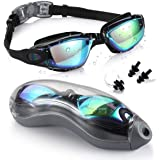 Swimming Goggles, Anti-Fog and No Leaking, fits for Adult Youth and Kids UV-Resistant Swim Glasses