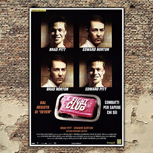Poster Cinema Fight Club - Brad Pitt - Formato: 70x100 CM
