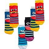 C&C KIDS 6 pares de calcetines para niños o niñas, con punta, costuras suaves.