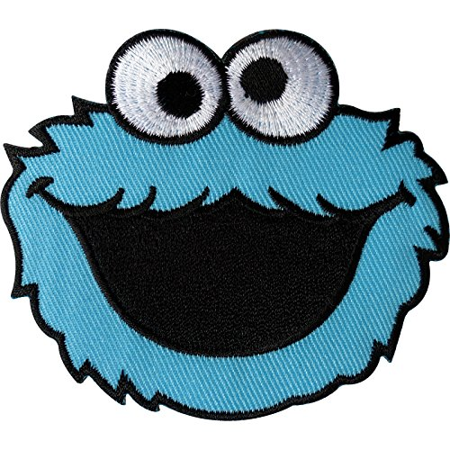 Sesam Street Cookie Monster Patch Embroidered Iron