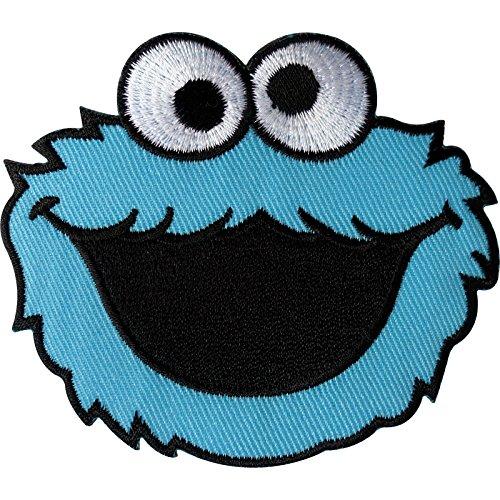 Sesam Kostüm - Sesam Street Cookie Monster Patch Embroidered Iron on/Sew auf Kleidung Badge