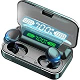 Bluetooth draadloze hoofdtelefoon, in-ear, draadloze hoofdtelefoon, IPX7 waterdicht, Deep Bass HiFi draadloze oordopjes met C