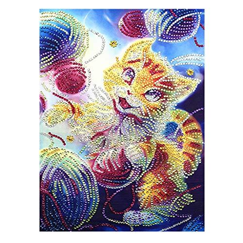 QinMM DIY 5D Diamant Malen nach Zahlen Kits, Vollbohrer Tier Stickerei Malerei Wandaufkleber für Wanddekor