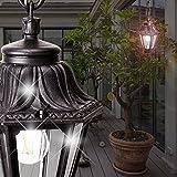 MIA Light Außen Hängeleuchte Schwarz / Laternenleuchte Pendelleuchte Hängelampe Pendellampe Außenleuchte Außenlampe Laternenlampe Laterne Laternenleuchte Laternenlampe Laterne