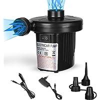 Pompa Elettrica, 2 in 1 Pompa Elettrica Portatile, Gonfiando Sgonfiando Pompa Elettrica con 3 Ugelli per Materasso…