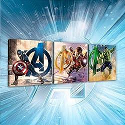 BEBEGAVROCHE cuadros tríptico Avengers Marvel