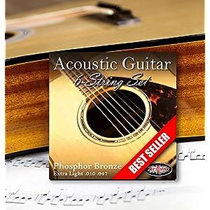 Adagio Professional Acoustic Guitar Strings Full Set/Pack – Gauge 10-47 Phosphor Bronze