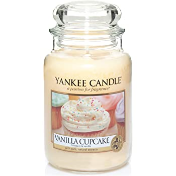 YANKEE CANDLE bougie grande jarre, «Gâteau à la vanille»