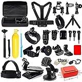 Soft Digits 42-in-1 Basic Common Outdoor Sports Kit Accessories for All Gopro Hero4 Silver Black Hero 4 3+ 3 Sj4000 Sj5000 Sj6000 Sports Camera