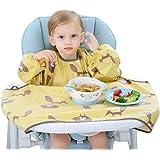 Willcome Baby الفطام مريلة أطفال بأكمام طويلة مقاوم للماء دخان غطاء كرسي طعام لمستلزمات تغذية الأطفال الصغار