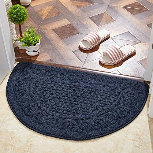 YPYSYL Halbrunder Bodenmattenteppich Türmatte Mittelgroßer Teppich mit Gummirücken, 40x63 cm