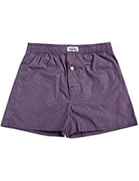 The Cotton Company Men's Cotton Printed Boxer Shorts - Pack Of 1 - B076NXQJWY