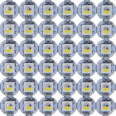 ALITOVE 100pcs SK6812 RGBW RGB White Upgrade WS2812B Individually Addressable LED Pixel LED Matrix on Heat Sink PCB Board 5V for Arduino DIY …