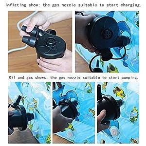 Moobom Pompa pneumatica elettrica 220V Spina pneumatica gonfiabile automatica con 3 adattatori per ugelli per giardino Home Holiday Camping Airbed, bambini Piscina per bambini e giocattoli, gonfiabili da spiaggia etc