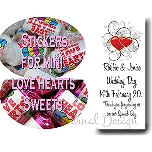 Wedding heart favour stickers amazon co uk