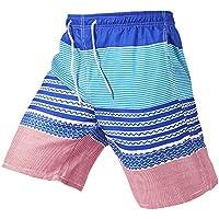 LITTHING Men' Beach Shorts Quick Dry Printing Board Shorts Casual Slim Short c