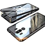 Case for Huawei Mate 10 Pro Cover Magnetic Adsorption Technology Case Metal Bumper Frame with Transparent Tempered Glass Full