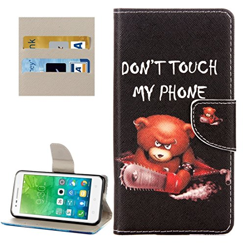 Proteja su teléfono, Für Lenovo Vibe C2 / C2 Power Kleine Bär Muster Horizontale Flip Leder Tasche mit Halter & Card Slots & Wallet ( SKU : Mlc8503a ) (Power Bären Htc One)