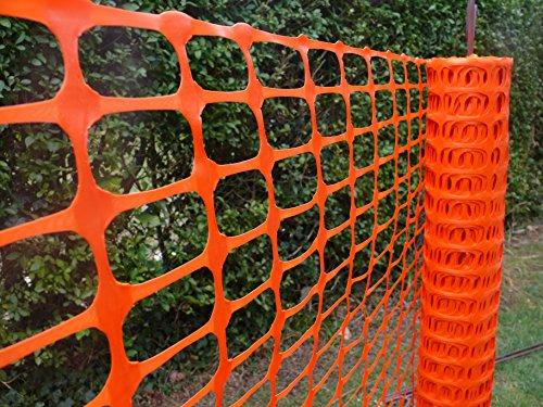 Warnzaun, Bauzaun, Absperrzaun Medium Plus 200g/m², 1 x 50m, orange, zur Absicherung und Kennzeichnung von Baustellen, Gefahrenzonen, Loipen u.a. Test