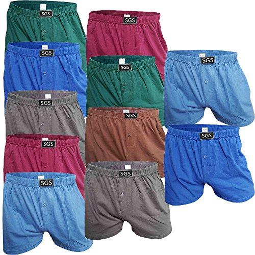 SGS 6-10 Pack Unterhosen Mann Herren Unterhosen Boxershorts Men (10.Stück, 10/3XL)