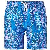 Goodstoworld Costume da Bagno per Uomo Shorts da Bagno Disponibile Uomo Shorts da Mare Costume a Pantaloncino Adulto M Ananas