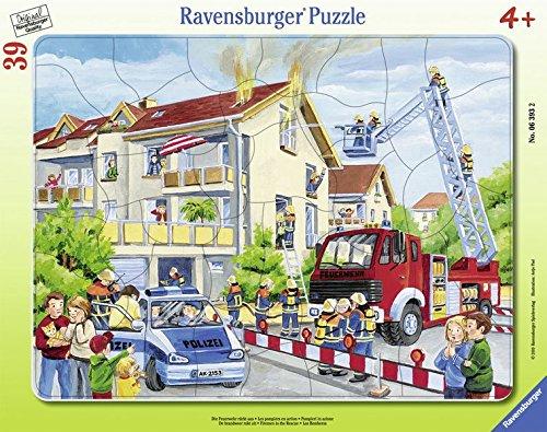 Puzzle 25 Ravensburger (Ravensburger 06393 - Die Feuerwehr rückt aus)
