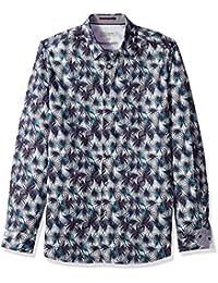 Ted Baker Men's Karaf Modern Slim Fit Ls Palm Printed Shirt