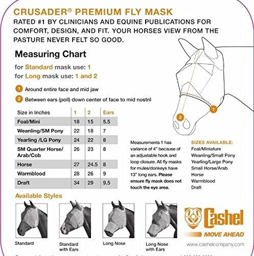 Cashel Crusader Fliegenmaske ohne Ohren | mit Nase