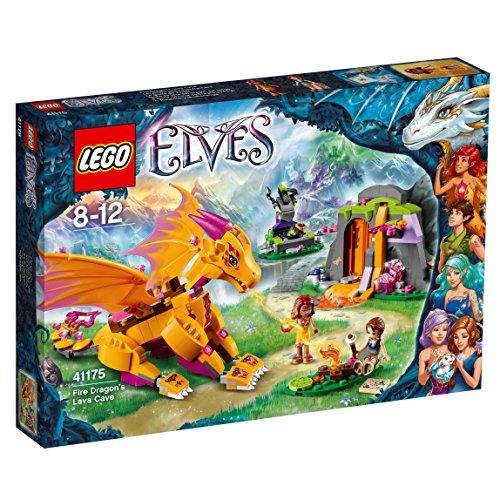 LEGO Elves 41175 - Lavahöhle des Feuerdrachens, Kreatives Spielzeug für 8- bis 12-Jährige