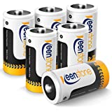 Keenstone 6st Uppladdningsbara Batterier C LR14 5000mAh 1.2V, Ni-MH Batteri C Baby C LR14 1200 Cykler Ultra Power och Hög Pre