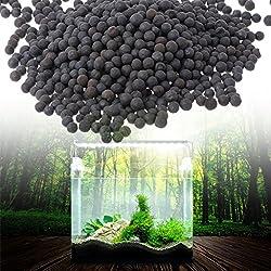 Daxibb Ceramsite Stone Aquarium Sand Black Beauty Fish Tank Substrate Decoration