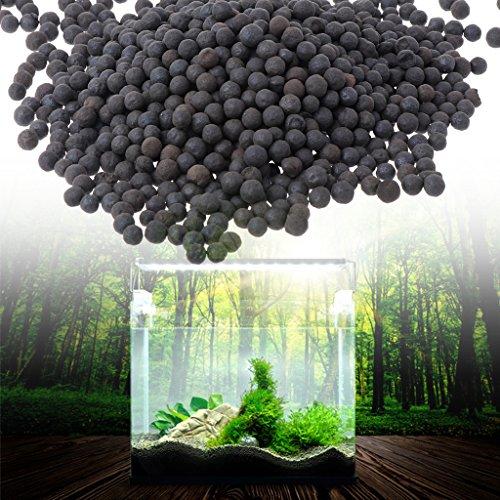 Daxibb Ceramsite Stein Aquarium Sand Schwarz Schönheit Aquarium Substrat Dekoration -