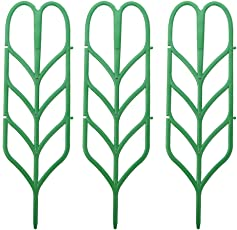Climberty DIY Garden Plant Climbing Trellis for Mini Climbing Plant Pot Leaf Shape Plant Trellis Green(3pcs)