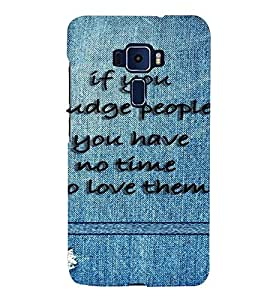 PrintVisa Quotes & Messages Attitude 3D Hard Polycarbonate Designer Back Case Cover for ASUS ZENFONE 3 ZE552KL