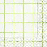 20 Lunch Servietten Karo weiß grün (Home square white/green) 33x33