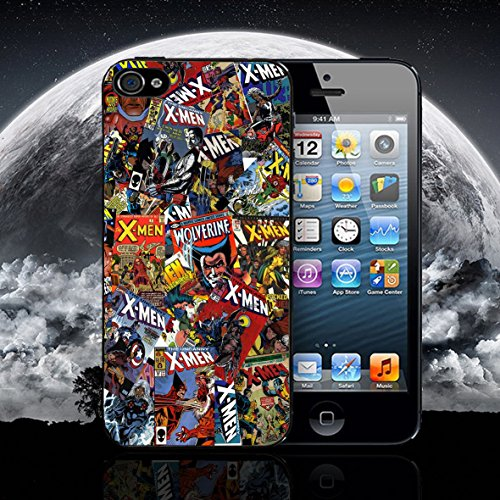 Sabretooth Cover (PHONE BOX GLOBAL New X-Men Comic Marvel DC Case Cover passend für Apple iPhone 6-6S schwarz Fall)