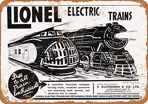 Hunnry Lionel Electric Trains Poster Metall Blechschilder Retro Dekoration Schild Aluminium Blechwaren Vintage Wandkunstplakat Zum Cafe Bar Wohnzimmer Zuhause