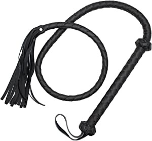 BREGO Faux Leather Long Horse Riding Whip 5 Feet Length