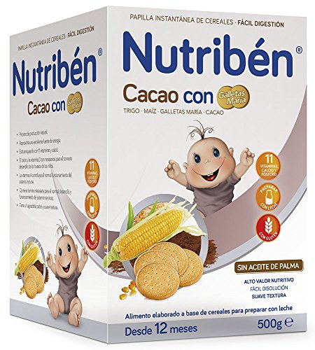 Nutribén Papilla Cacao Galletas Maria - 500 gr