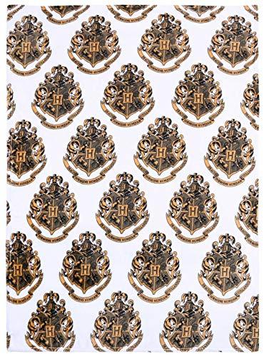 Manta Blanca y Dorada 120x150 Harry Potter