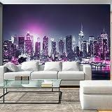 murando - Fototapete 200x140 cm - Vlies Tapete - Moderne Wanddeko - Design Tapete - Wandtapete - Wand Dekoration - New York City Stadt NY Manhattan Nacht Panorama Hochhaus d-C-0012-a-d