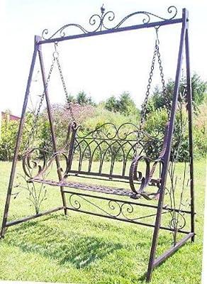 Schaukel Hollywoodschaukel mit Ketten 18688 aus Metall Schmiedeeisen Gartenschaukel von Denk auf Gartenmöbel von Du und Dein Garten