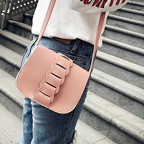 Zarupeng Frauen-Art- und Weisehandtaschen-Schulter-Beutel-kleiner Tote-Dame-Geldbeutel rosa