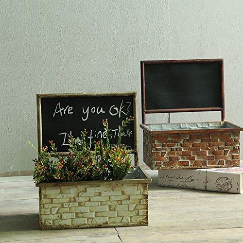 Il decor è cesti floreali pendenti dei vasi da fiori carrello muro di ferro pitture murali , fare il vecchio bianco