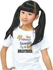 Giftsmate Bhaidooj Kids Sister Girls T-Shirt Princess Guarded by Big Brother Cotton
