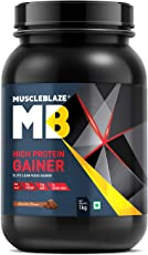 MuscleBlaze High Protein Lean Mass Gainer (Chocolate, 2.2 lb / 1 Kg)