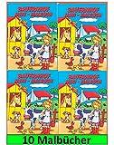 Libetui 10 Malbücher Mini Malbuch Größe b6 17,6 x12,5cm Mitgebsel Kinderparty Hochzeit Geschenk Kindergeburtstag (Bauernhof)