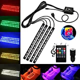Car Interior Lights, USB 4x12 LED Car Neon Atmosphere Lamp...