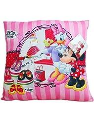 Minnie Mouse - Niños Cojín - almohada - selección de colores - 35x35 cm, Farbe:Rosa