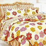 VIOY Bettwäsche Artikel Gestreifte Blumen/Floral Cosy 100% Baumwolle Bettbezug-D 150X215Cm (59X85Inch),220 * 240cm (87x94inch),D